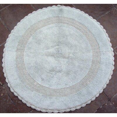 100% Soft Cotton Reversible Bath Rug Color: Light Aqua