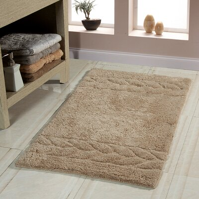 Glasgow Bath Rug Size: 36 x 24, Color: Beige