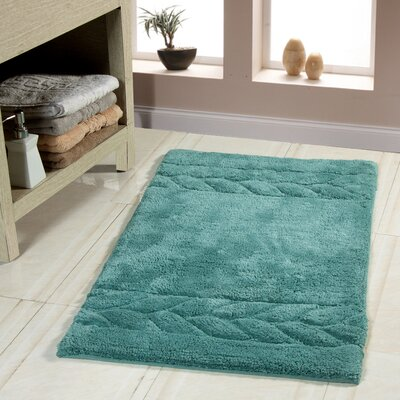 Glasgow Bath Rug Size: 36 x 24, Color: Arctic Blue