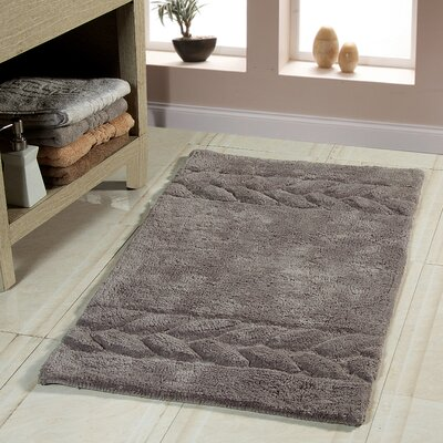 Bath Rug Color: Gray, Size: 36 x 24