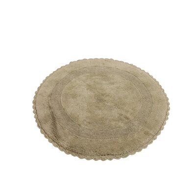 100% Soft Cotton Reversible Bath Rug Color: Sage Green