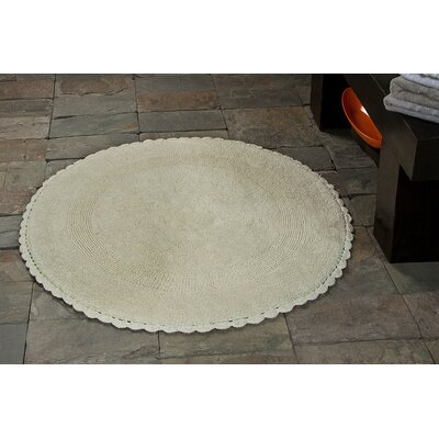 100% Soft Cotton Reversible Bath Rug Color: Ivory