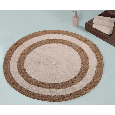 100% Soft Cotton Reversible Two Tone Bath Rug Color: Beige / Ivory