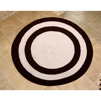 100% Soft Cotton Reversible Two Tone Bath Rug Color: Chocolate / Ivory