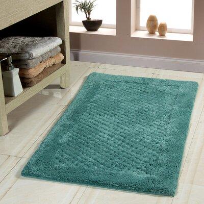 Oakside Bath Rug Size: 34 x 21, Color: Arctic Blue