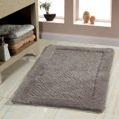 Oakside Bath Rug Size: 50 x 30, Color: Gray