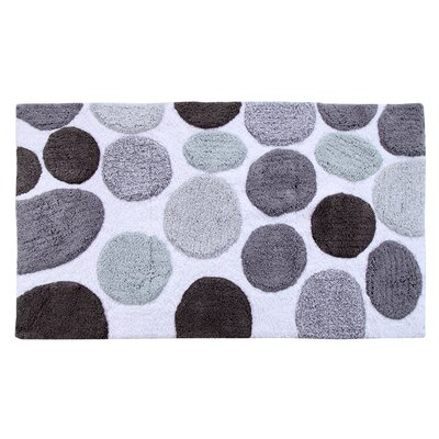Yarger 100% Soft Cotton Bath Rug Color: Gray