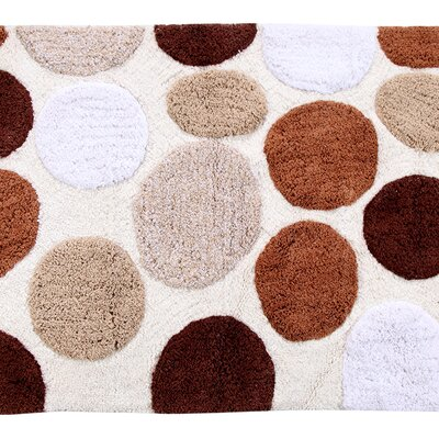 Yarger 100% Soft Cotton Bath Rug Color: Brown
