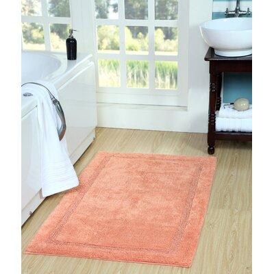 Bath Rug Size: 50 x 30, Color: Coral