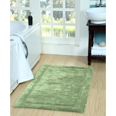 Bath Rug Size: 50 x 30, Color: Sage Green