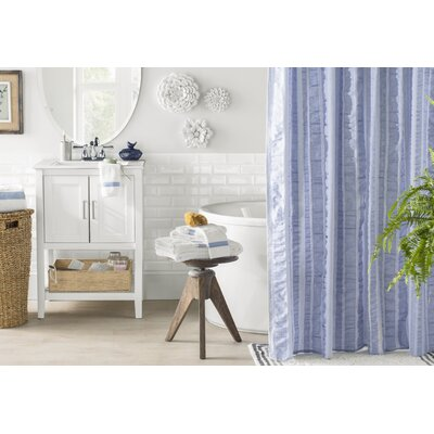 Ewen Shower Curtain Color: Chambray