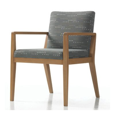 Hayden Guest Chair in Grade 4 Fabric with Sytex Seat Support System Color: Fabric Latte, Finish: Grand Mahogany