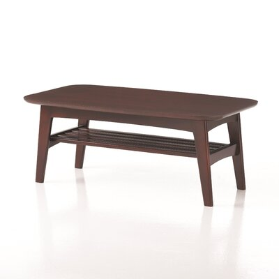 Brodie Coffee Table with Magazine Rack Color: Grand Mahogany