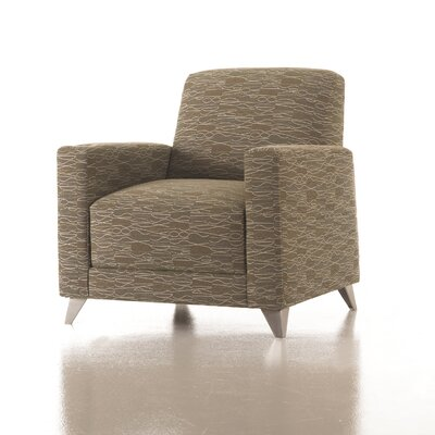 Zoe Lounge Chair Color: Fabric Jet, Upholstery Type: Grade 2 Fabric