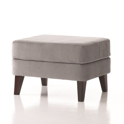 Brodie Ottoman in Grade 4 Fabric Upholstery: Fabric Laurel