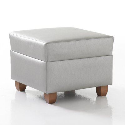 Crosby Square Ottoman in Grade 4 Fabric Upholstery: Fabric Annatto