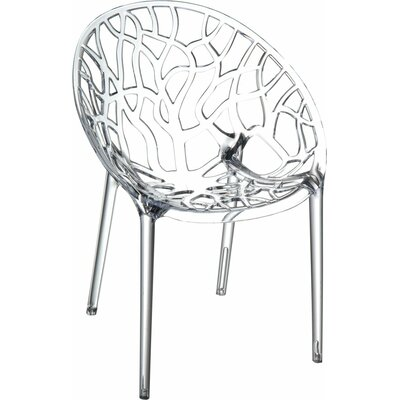 Crystal Barrel Chair Finish: Clear