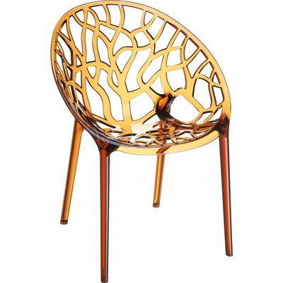 Crystal Barrel Chair Finish: Amber