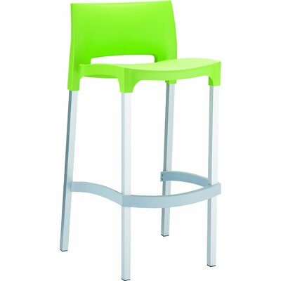 29.52 inch Bar Stool Upholstery: Tropical Green