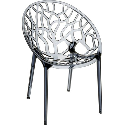 Crystal Barrel Chair Finish: Grey