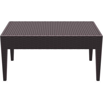 Miami Patio Lounge Coffee Table Color: Brown