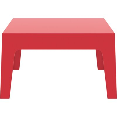 Box Coffee Table Color: Red