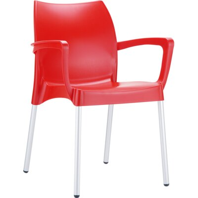 Dolce Arm Chair Finish: Red