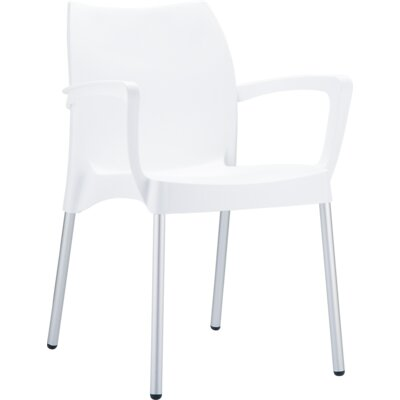 Dolce Arm Chair Finish: White