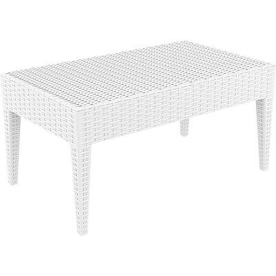 Miami Patio Lounge Coffee Table Color: White
