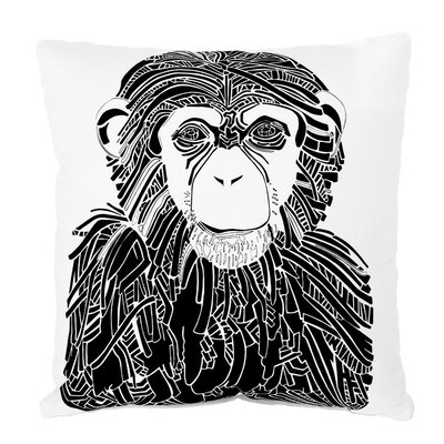 Wildlife Chimp Limited Edition Throw Pillow