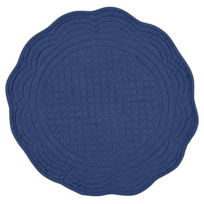 Chardon Round Boutis Placemat Color: Navy