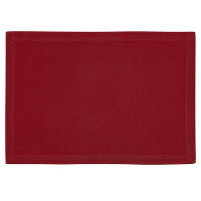Hilderbrand Placemat Color: Red