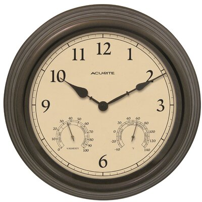 AcuRite 15 Outdoor Clock Combo