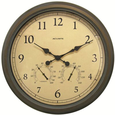 AcuRite Oversized 24 Outdoor Clock Combo