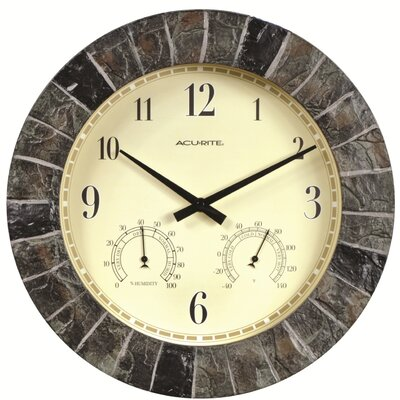 AcuRite Oversized 14 Outdoor Clock Combo