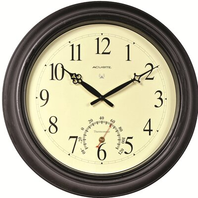 AcuRite Oversized 18Round Outdoor Radio-Controlled Clock Finish: Black