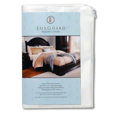 LuxGuard Allergen, Bed Bug and Dust Mite Pillow Protection Zip Cover Size: Queen