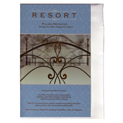Resort Waterproof, Bed Bug, Dust Mite and Allergen Pillow Encasement Zip Cover Size: King