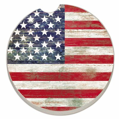 Absorbent Stone American Flag Car Coaster 92695