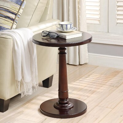 Haley End Table Color: Dark Cherry