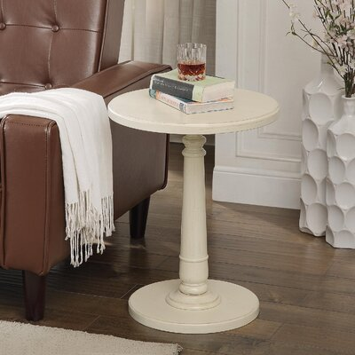 Haley End Table Color: Antique White