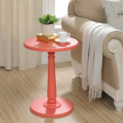 Haley End Table Color: Coral