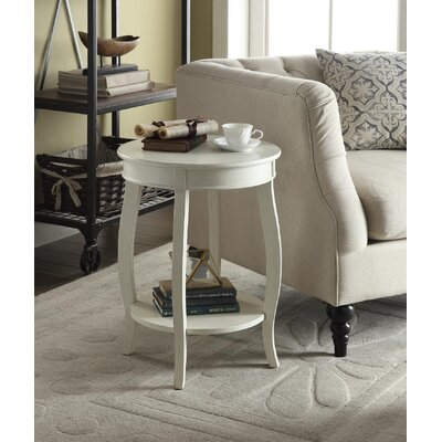 Yvonne End Table Finish: Antique White