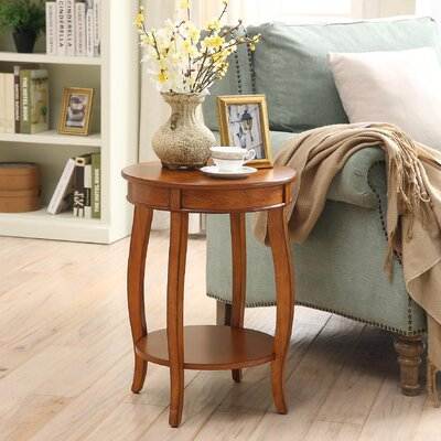 Yvonne End Table Color: Burnt Chestnut