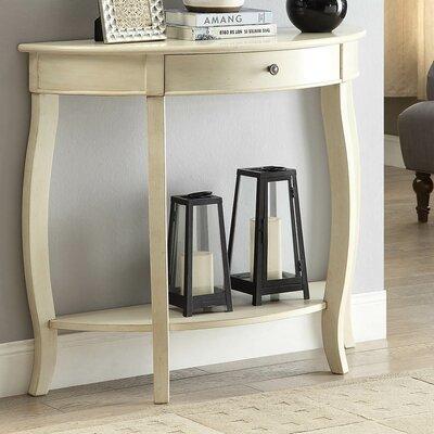 Burr Console Table Color: Antique White