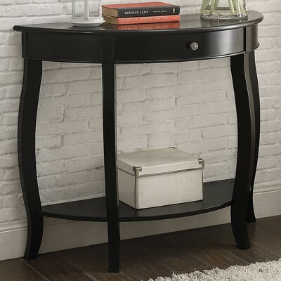 Burr Console Table Color: Antique Black