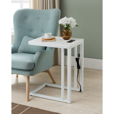 Blankenship End Table Color: White