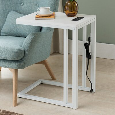 Blankenship End Table Finish: White