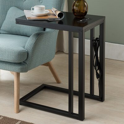 Blankenship End Table Finish: Black