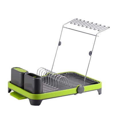 Deluxe Multi-Function Dish Rack Finish: Green/Gray
